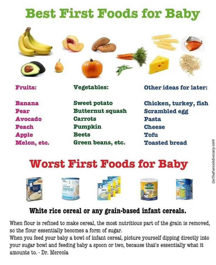 First foods to introduce to baby