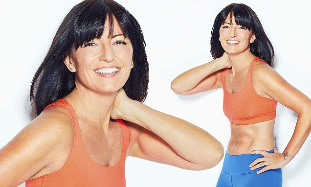 Fitness queen Davina McCall, 49, shows off her six-pack in a crop top