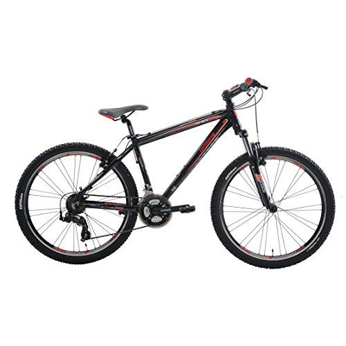 Lombardo Sestriere 300M Mountain Bike 26 inch Wheels Mens Bike RedBlack 99 Assembled 17 inch Frame *** Details can be found by clicking on the image.