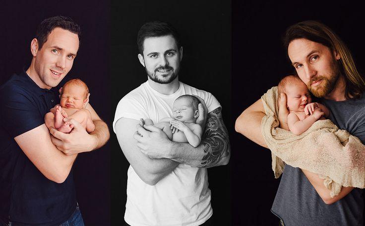Bath baby photography | Sophie Barwood | Honey & Oats Photography #daddycuddles #dads #honeyandoats #newborn