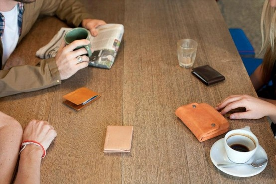 Status Anxiety. #coffee #leather #wallet #purse #meeting #essential #hermanstore