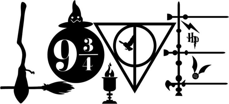 Download harry potter wand clipart #14 | Harry potter decal, Harry ...