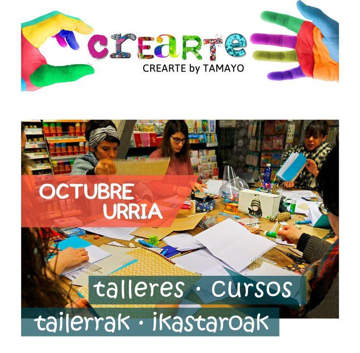Aquí están los talleres de Octubre de #TamayoPapeleria que estabas esperando; CREACION Y ESTAMPACION DE SELLOS Viernes > dias 6 y 13 de Octubre (curso de 2 dias) CALIGRAFIA Sabado > dias 7 14 21 y 28 de Octubre (curso de 4 dias) MODELANDO PLASTILINA Sabado > dia 7 de Octubre (curso de 1 dia) CALIGRAFIA PARA NIÑOS Sabado > dia 14 de Octubre (curso de 1 dia) ENCUADERNACION Martes > dias 17 24 y 31 de Octubre (curso de 3 dias) INTRO A LA ILUSTRACION CIENTIFICA Viernes > dias 20 y 27 de Octubre…