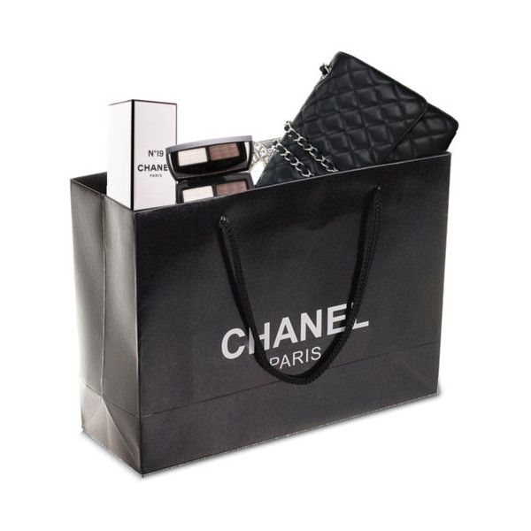 Premade Chanel Shopping Bag ❤ liked on Polyvore featuring bags, handbags, tote bags, fillers, accessories, chanel, shopping bags, detail, embellishment and chanel shopper