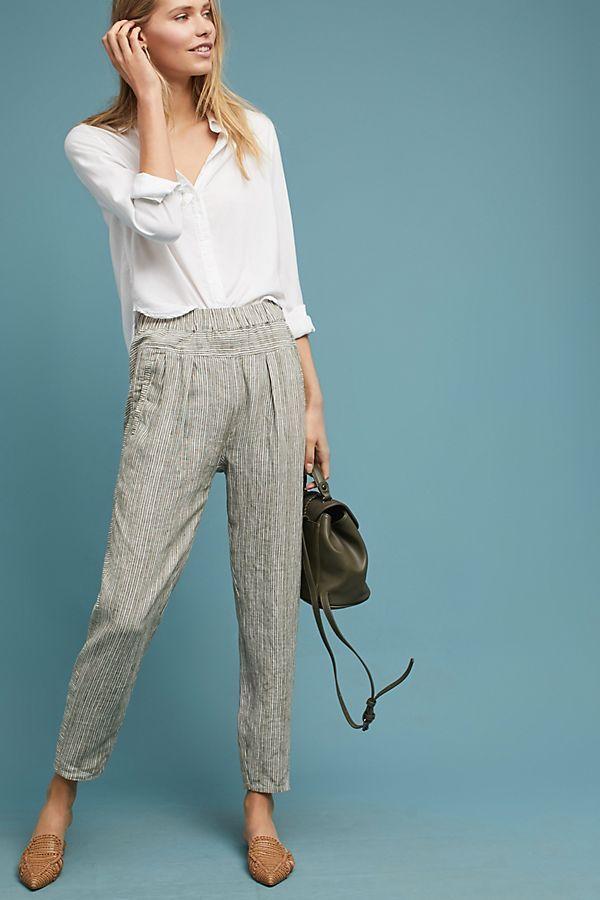a2e3fa49058a Striped Linen Pants in 2019 | Anthropologie | Linen pants, Pants ...