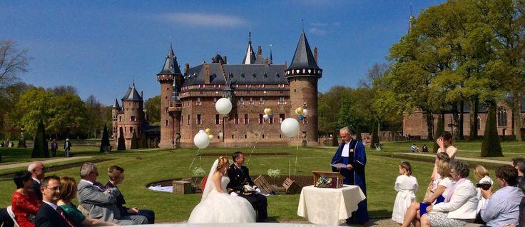 Live #muziek tijdens #trouwceremonie #Kasteel de Haar. #bruiloft #wedding #music #trouwen