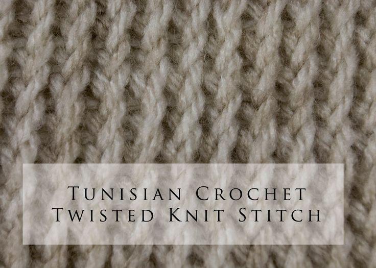 Tunisian Crochet Twisted Knit Stitch (+playlist)