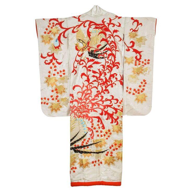 Vintage Silk Brocade Japanese Ceremonial Kimono 1