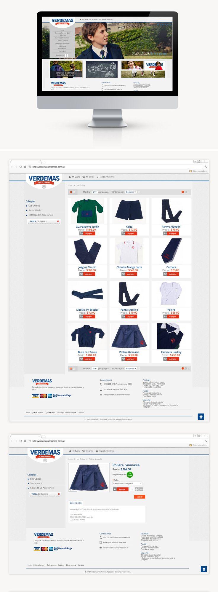 Diseñamos la web e implementamos un carrito de compras para poder comprar sus productos online. Periódicamente hacemos mantenimiento del sistema, agregando o quitando utilidades.
