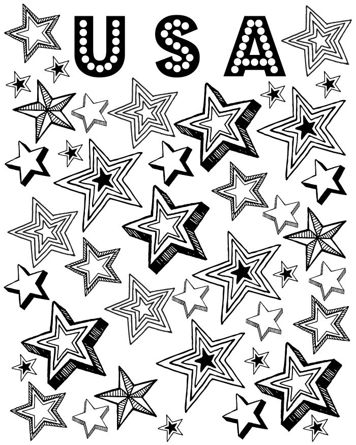 colouring pages for elderly - Patriotic Coloring Pages Print