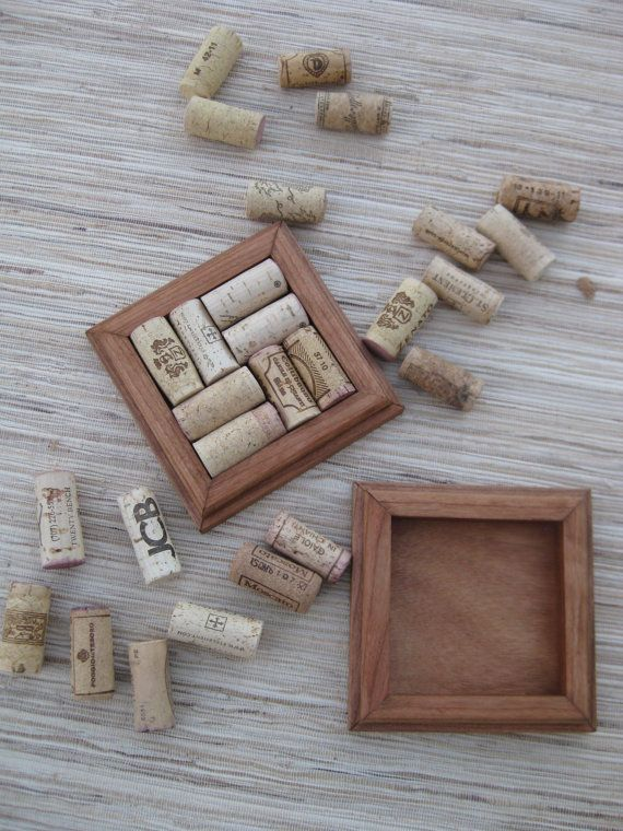 Rustic Brown Wine Cork Coasters  DIY CRAFT set of by TheWoodenBee