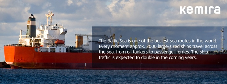 The Baltic Sea is one of the busiest sea routes in the world. Every moment approx. 2000 large-sized ships travel across the sea, from oil tankers to passenger ferries. The ship traffic is expected to double in the coming years.