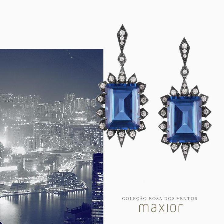 Earrings - Rosa dos Ventos Collection. Maxior Joias. #design #art #jewel #jewelry #diamonds
