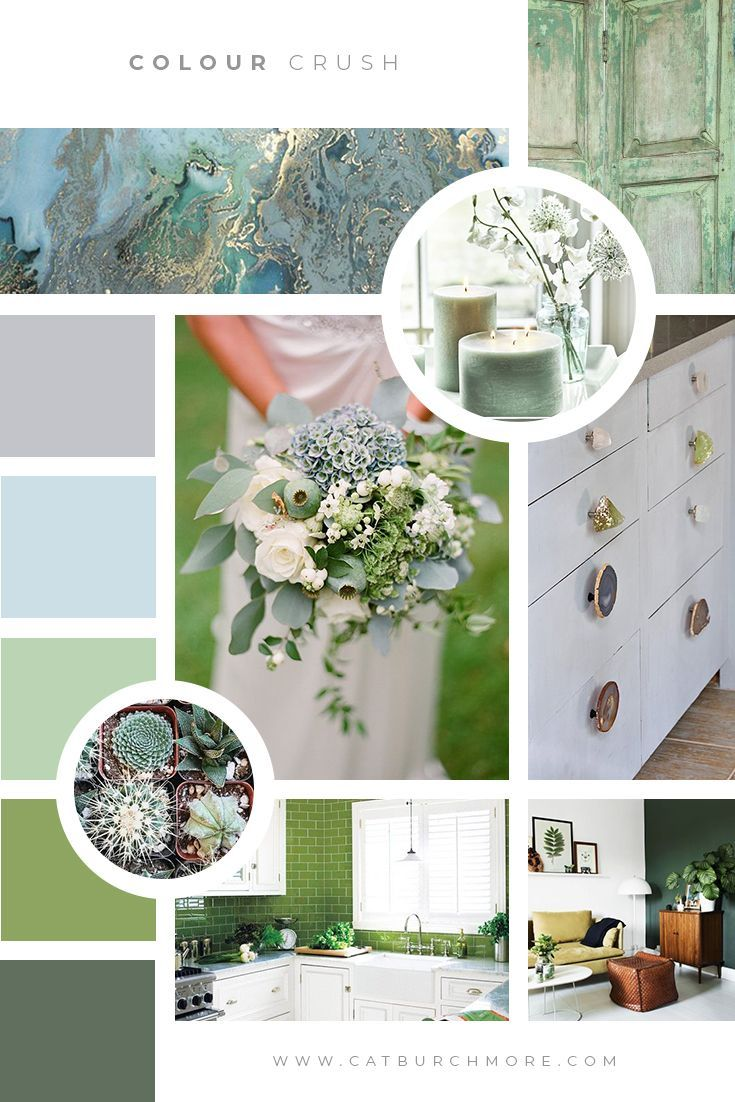 Looking for design and branding inspiration? Check out this fresh, Spring-inspired Colour Crush mood board from Cat Burchmore | Social Media | Branding | Digital Marketing via @catburchmore