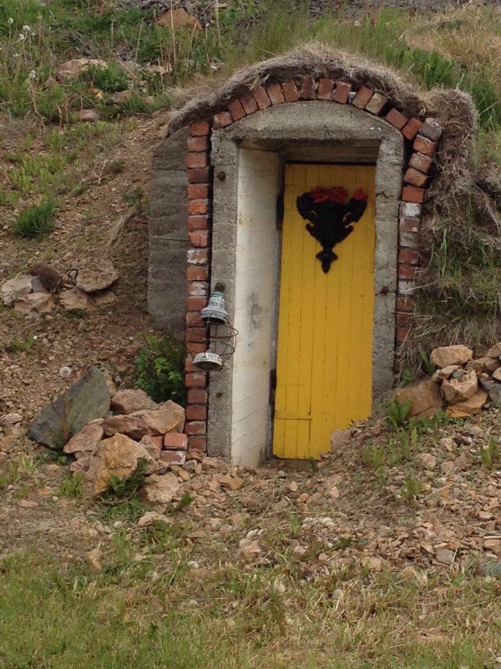 Yellow door cellar
