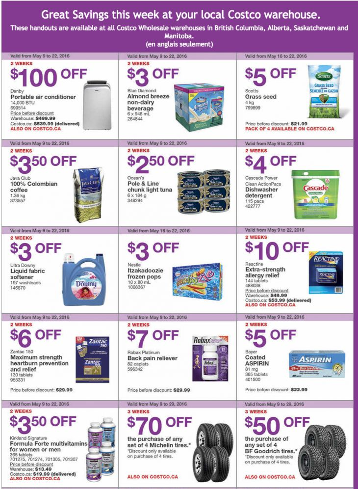 Costco Canada Weekly Instant Savings Handouts Flyers For British Columbia Alberta Saskatchewan & Manitoba May... http://www.lavahotdeals.com/ca/cheap/costco-canada-weekly-instant-savings-handouts-flyers-british/91226