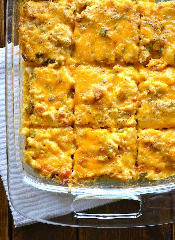 Loaded Cauliflower & Chicken Casserole from Rachel Schultz