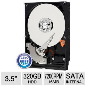disque dur 3.5 sata western digital - 320 go - 7200 tr/s - 16mo
