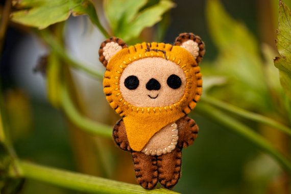 Felt Wicket the Ewok  Pocket Plush Toy by nuffnufftoys on Etsy, $12.00