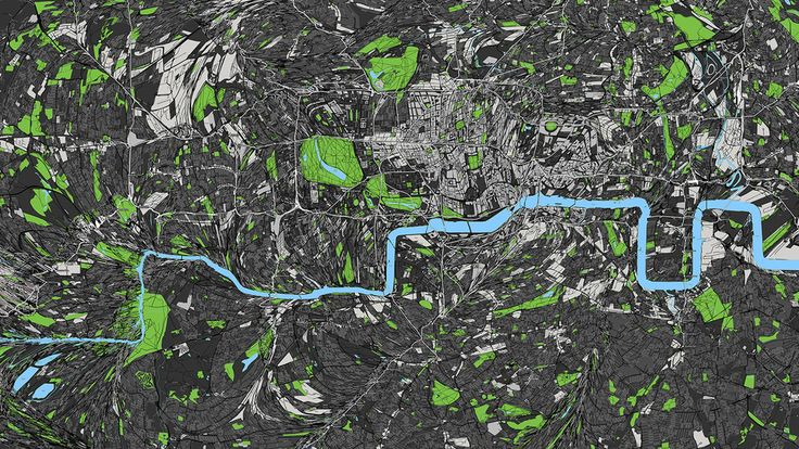 London, as it would look if the tube map was totally accurate. | 17 London Underground Maps You Never Knew You Needed