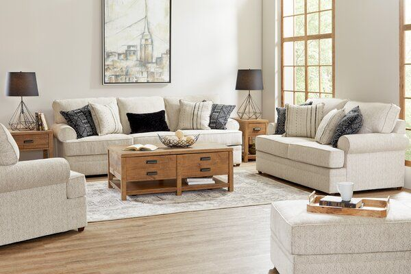 Darby Home Co Dorothy 103 Rolled Arms Sofa Reviews Wayfair 4 Piece Living Room Set Living Room Sets Small Apartment Living Room