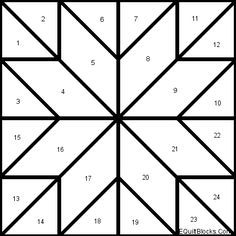 Easy Barn Quilt Patterns - Bing Images                                                                                                                                                      More