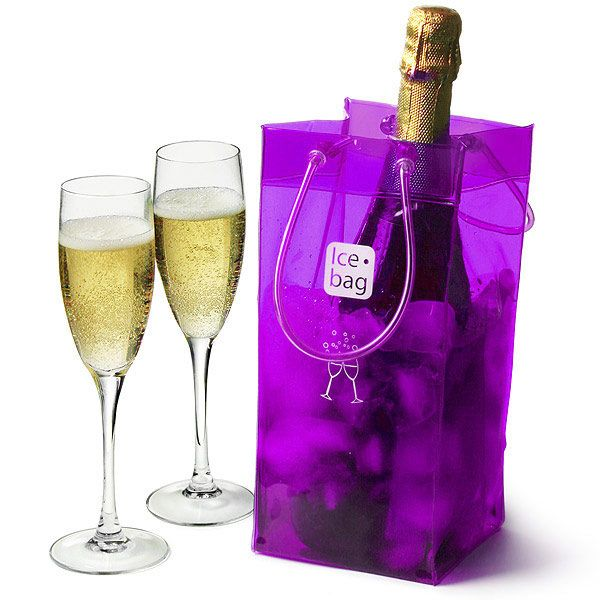 Ice Bag Purple   Party Ice Bags Ice Tote Champagne Coolers - Buy at drinkstuff