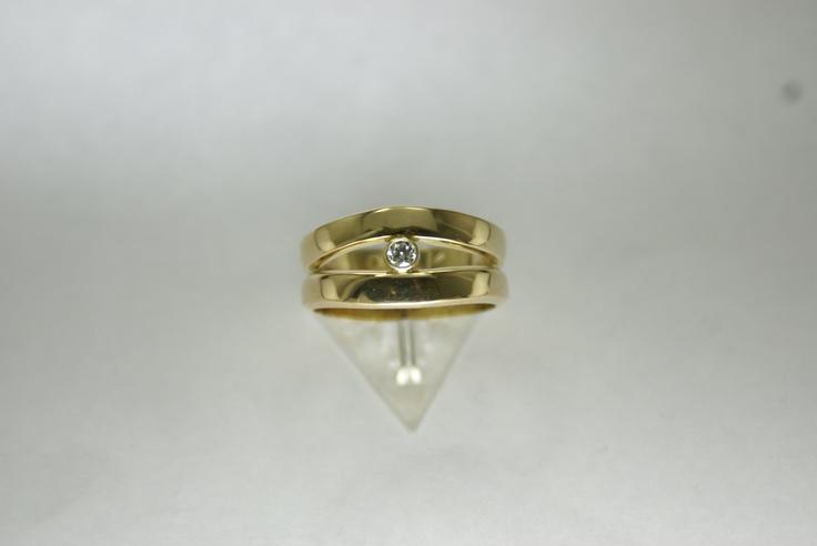weduwe ring met zirkonia