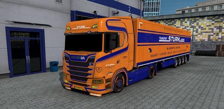 Ets2 Sturm Transport Skin V1 1 38 X Transportation Scs Vans