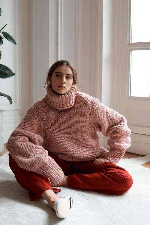 Huge oversized pink sweater