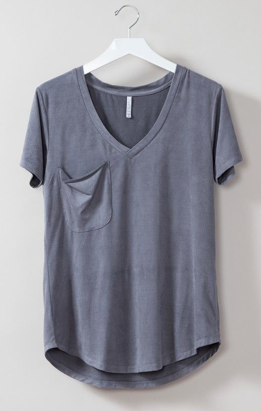 The Pocket Tee - Mineral Blue