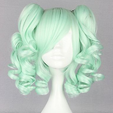 Moly Girl Mint Curly Pigtails 45cm Sweet Lolita Wig
