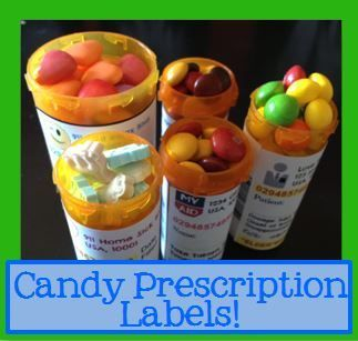 Free printable fake prescription candy labels