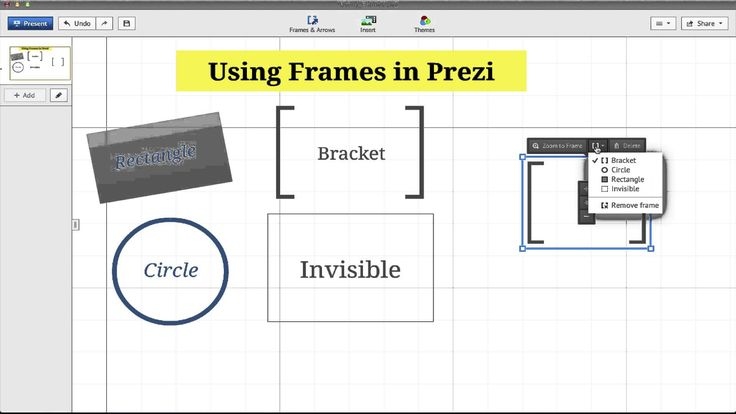 how to delete frames on prezi
