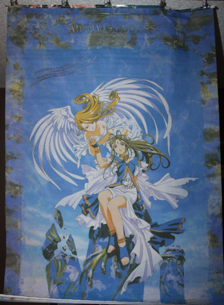 """Ah My Goddess Flag Poster 27.5"""" x 40"""" Anime Wall Hanging Fabric Tapestry"""