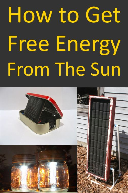 How to Get Free Energy From The Sun