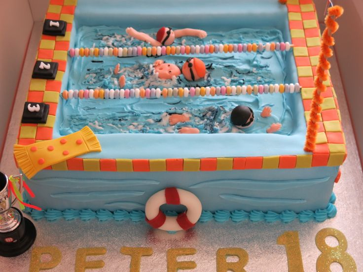 Best 25 Pool Birthday Cakes Ideas On Pinterest