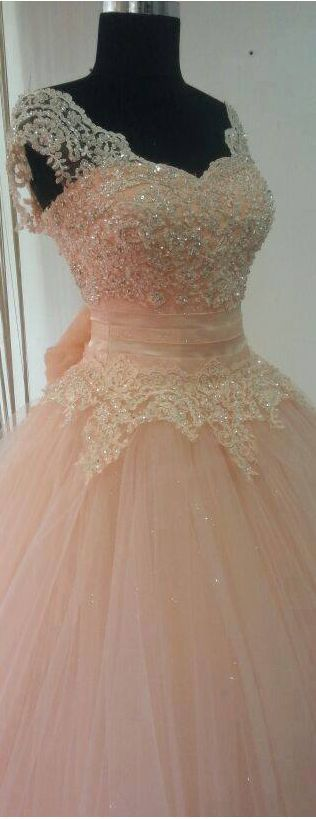Real Made Beading And Appliques Princess Quinceanera Dresses Lace-Up Tulle Dresses Quinceanera Dresses Prom Dresses The Charming Prom Dress