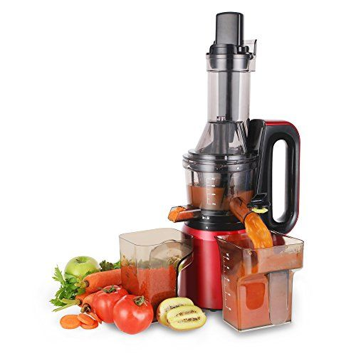 Beautiful Cusimax Slow RPMs Quiet Fruit Vegetable Masticating Juicer For Highly  Efficient Juice Extraction Red    Visit The Image Link More  Details Affiliate Link. Photo