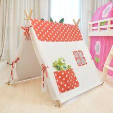 С рождеством христовым подарок ребенка красный 100% хлопок детей детские палатки()
