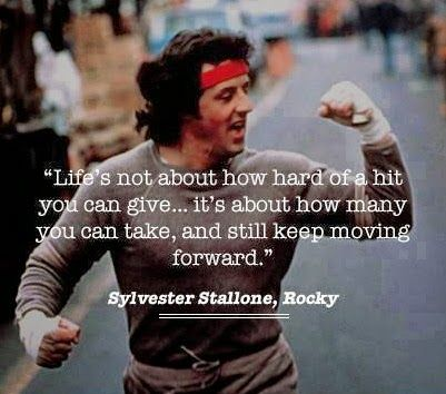 Wise words from Rocky!
