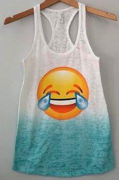 Emoji Sweater For Girls Ombre tanks emojis shirts