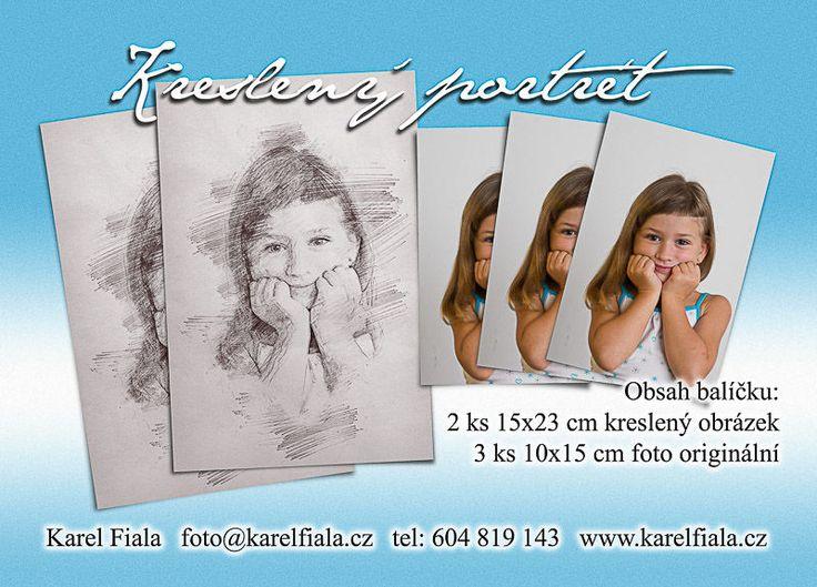 Nabídka focení pro základní a mateřskou školu - kreslený portrét více info www.karelfiala.cz/skolni-fotograf
