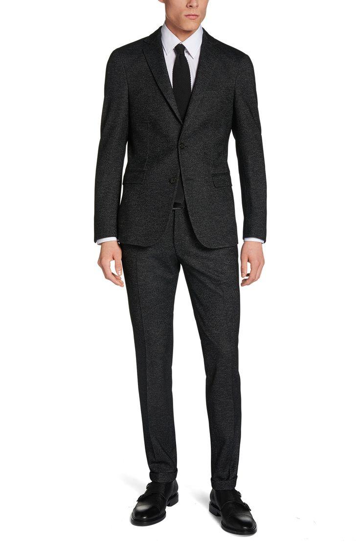 Extra Slim-Fit Anzug aus Schurwoll-Mix: 'Ramon/Warren'