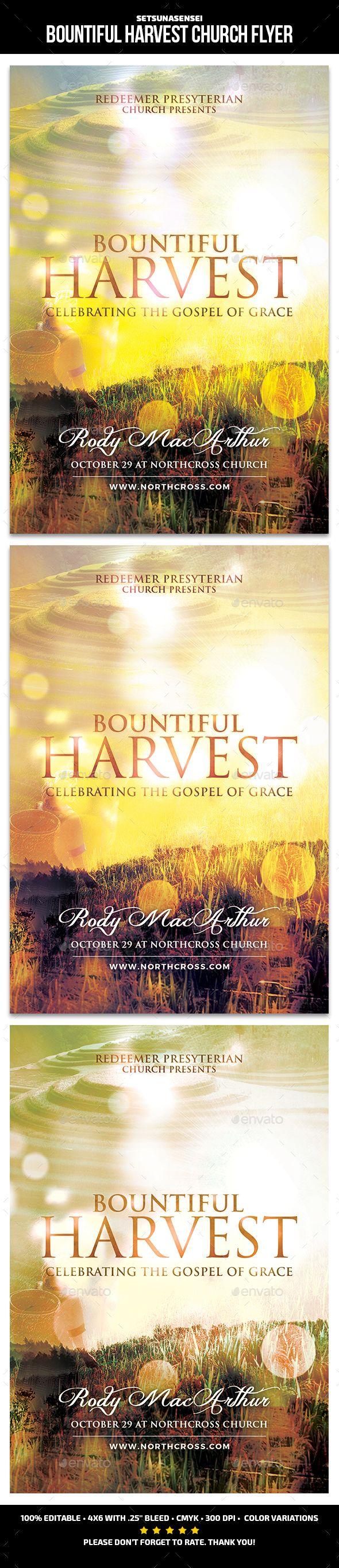 #Bountiful Harvest Church Flye - #Church #Flyers