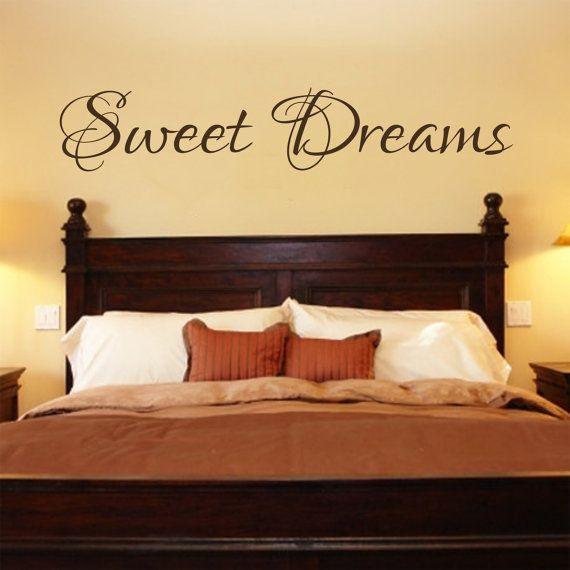 Amazing Bedroom Decal   Sweet Dreams Vinyl Bedroom Wall Decal   Bedroom Decor