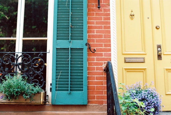 Good Colors Teal Shutters And Butter Door Love