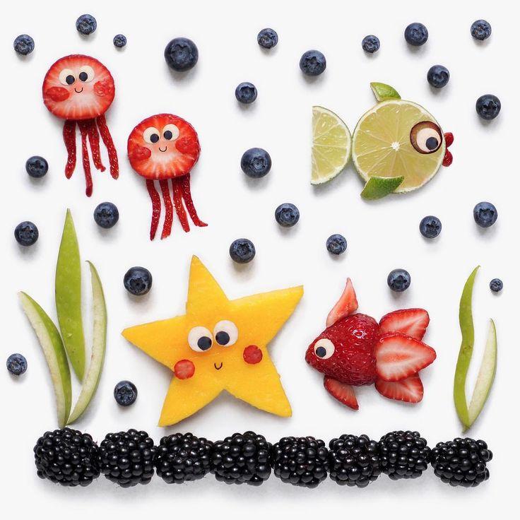 Under the sea fruit art by D A R Y N A K O S S A R (@darynakossar)