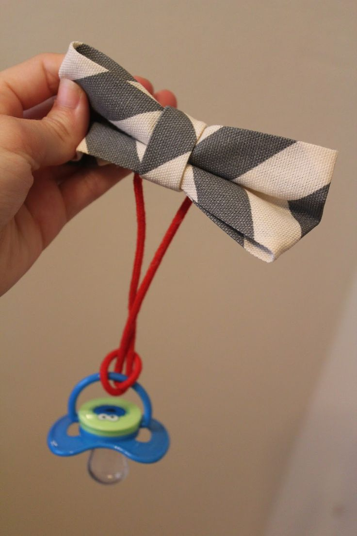 Fun with the Fullwoods: DIY (no sew) Bow Tie Pacifier Clip