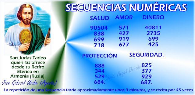 Secuencias Numéricas,  San Judas Tadeo